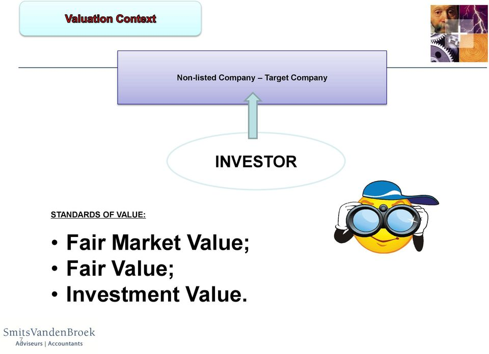 OF VALUE: Fair Market Value;
