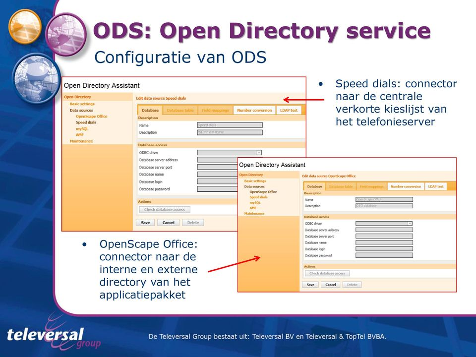 telefonieserver OpenScape Office: connector naar
