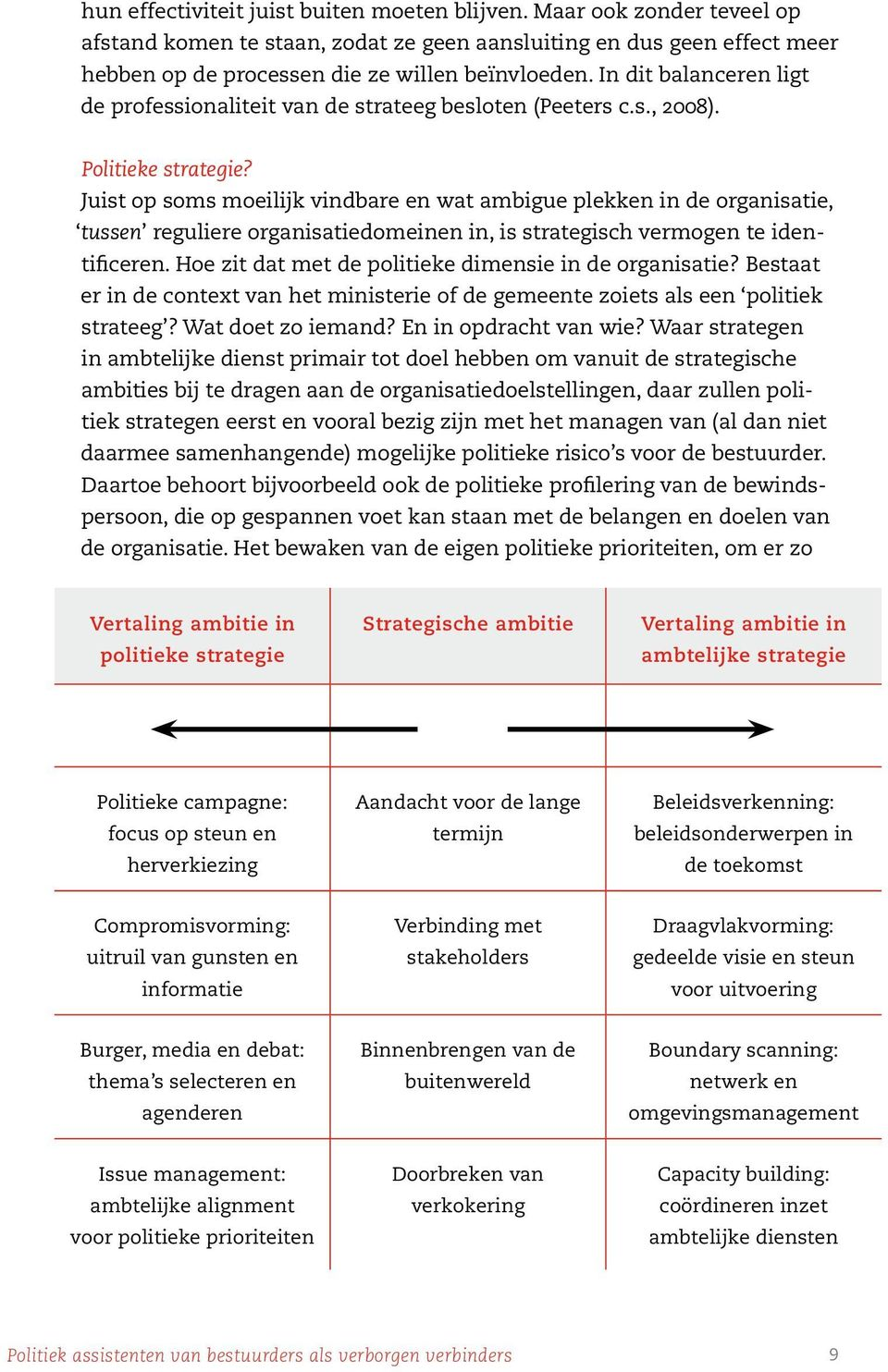 Juist op soms moeilijk vindbare en wat ambigue plekken in de organisatie, tussen reguliere organisatiedomeinen in, is strategisch vermogen te identificeren.