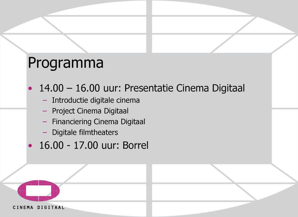 Introductie digitale cinema Project Cinema