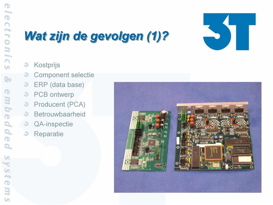 (data base) PCB ontwerp Producent