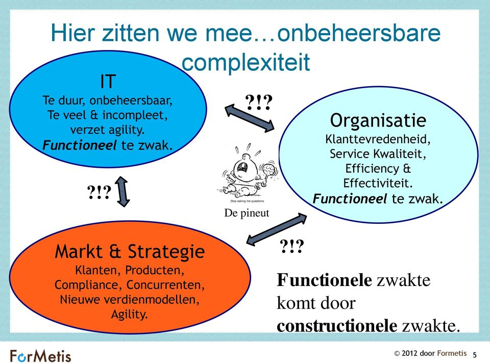 !? De pineut Klanttevredenheid, Service Kwaliteit, Efficiency & Effectiviteit.