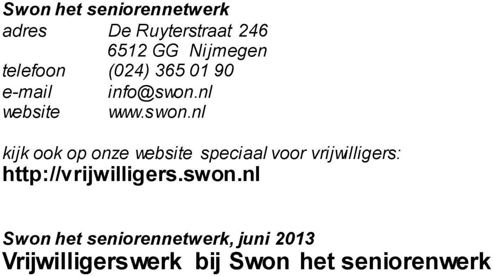 nl website www.swon.