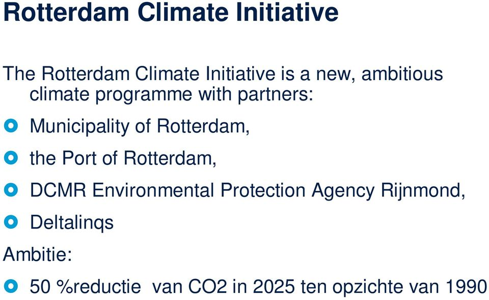 the Port of Rotterdam, DCMR Environmental Protection Agency Rijnmond,