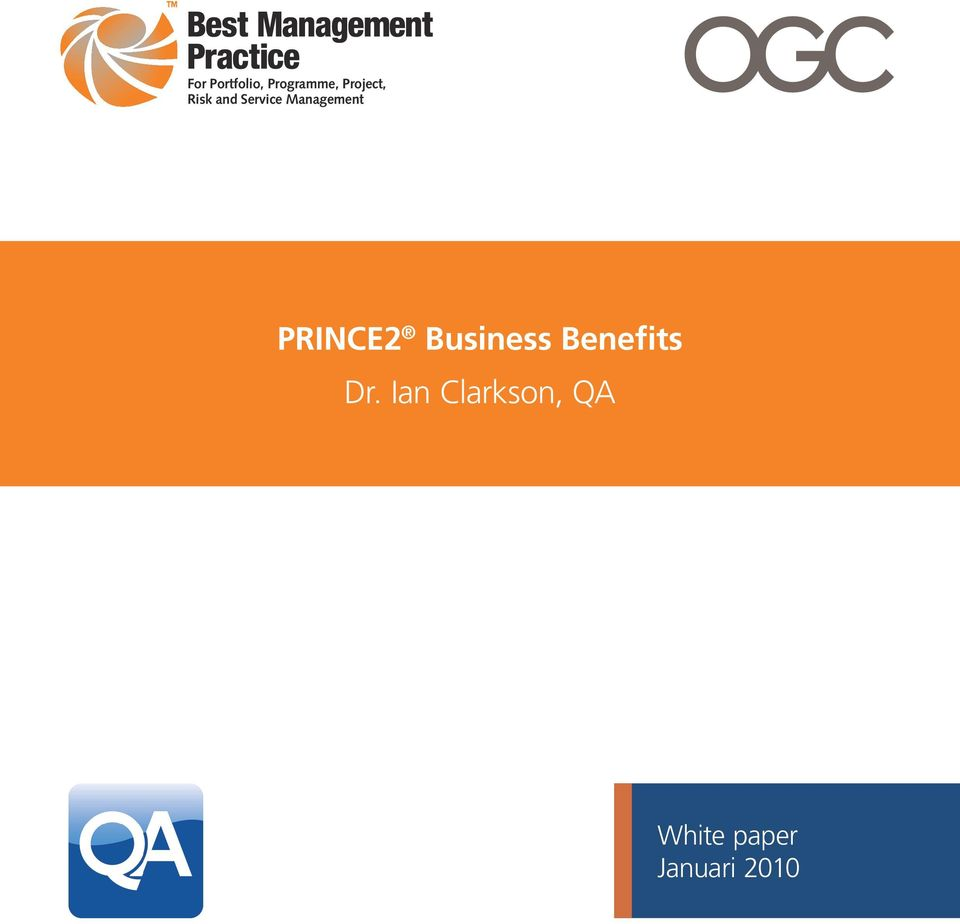 Management PRINCE2 Business