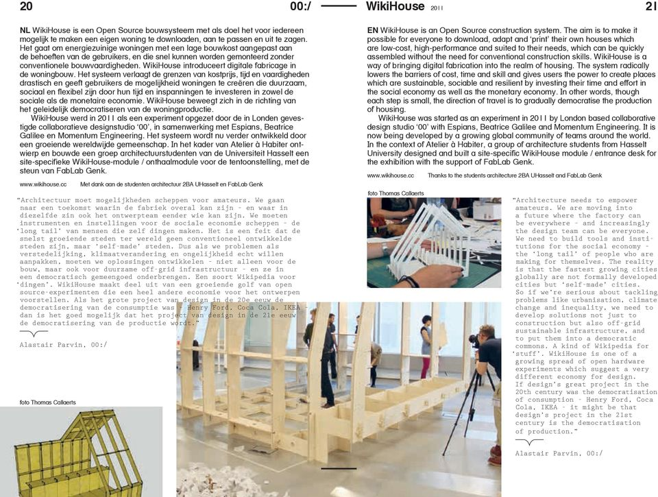 WikiHouse introduceert digitale fabricage in de woningbouw.