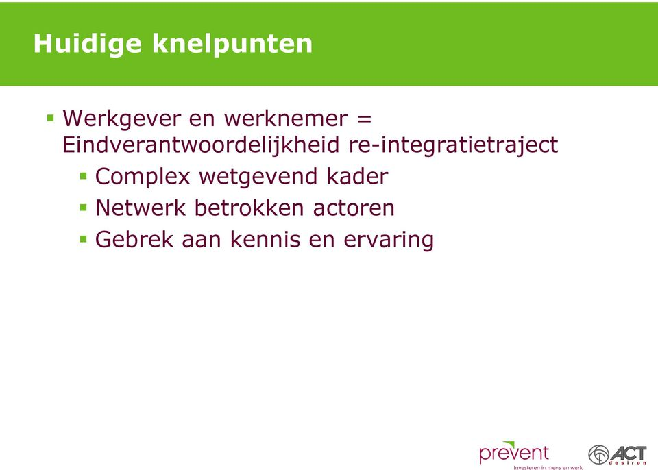 re-integratietraject Complex wetgevend