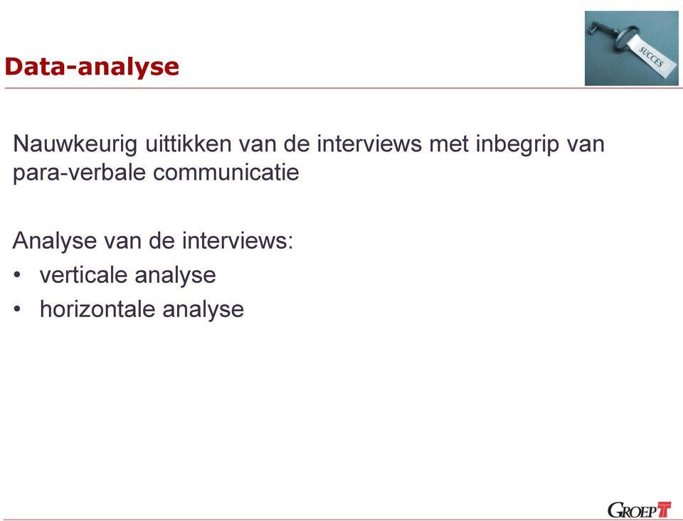 para-verbale communicatie Analyse van
