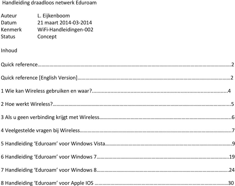 2 Quick reference [English Version] 2 1 Wie kan Wireless gebruiken en waar?...4 2 Hoe werkt Wireless?