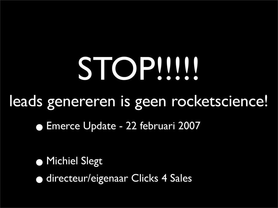 Emerce Update - 22 februari 2007