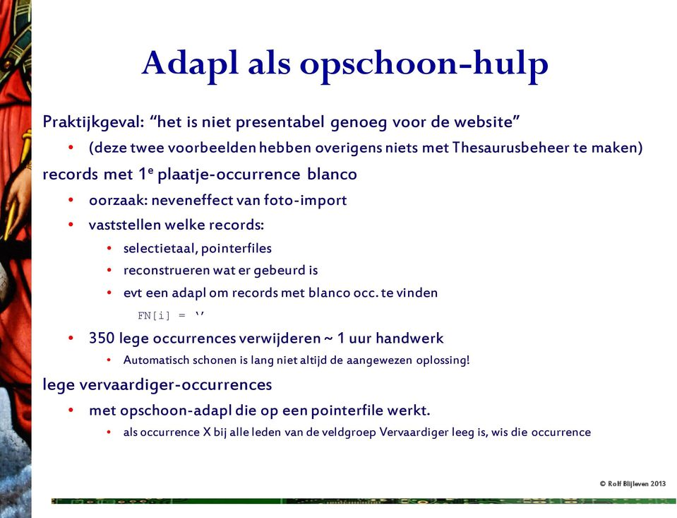 evt een adapl om records met blanco occ.