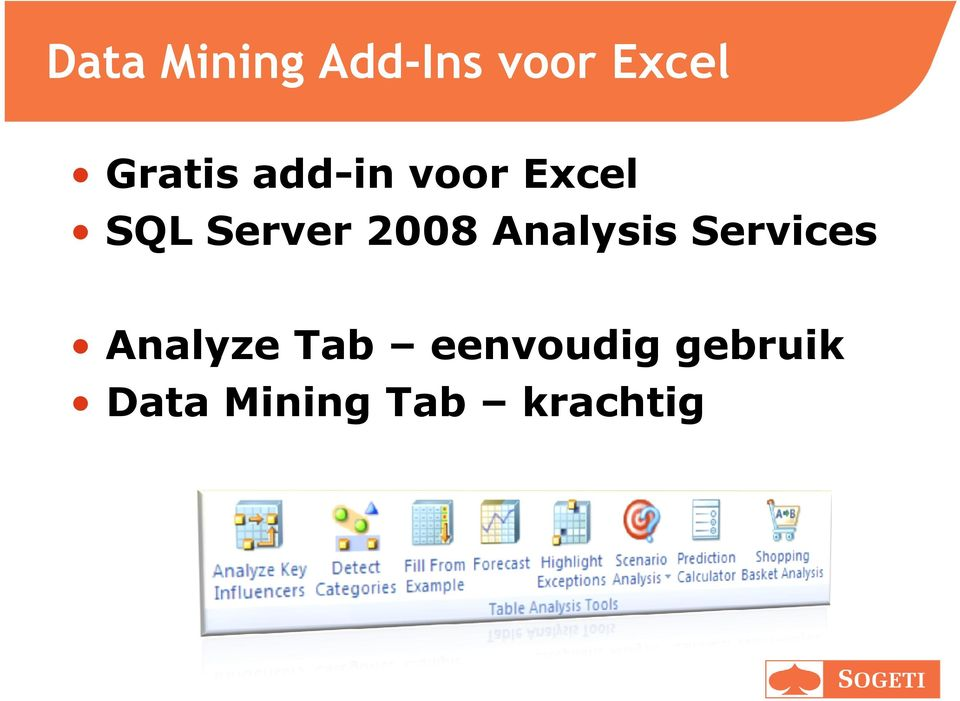 2008 Analysis Services Analyze Tab