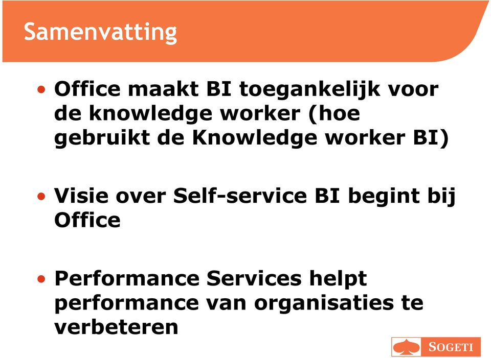 Visie over Self-service BI begint bij Office