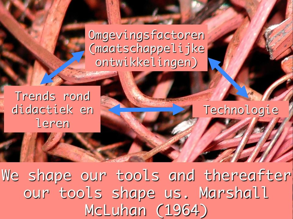 leren Technologie We shape our tools and