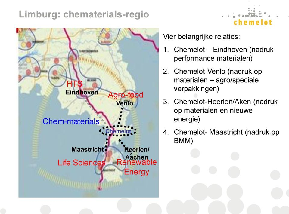 Sciences Agro-food Venlo Chemelot Heerlen/ Aachen Renewable Energy 2.