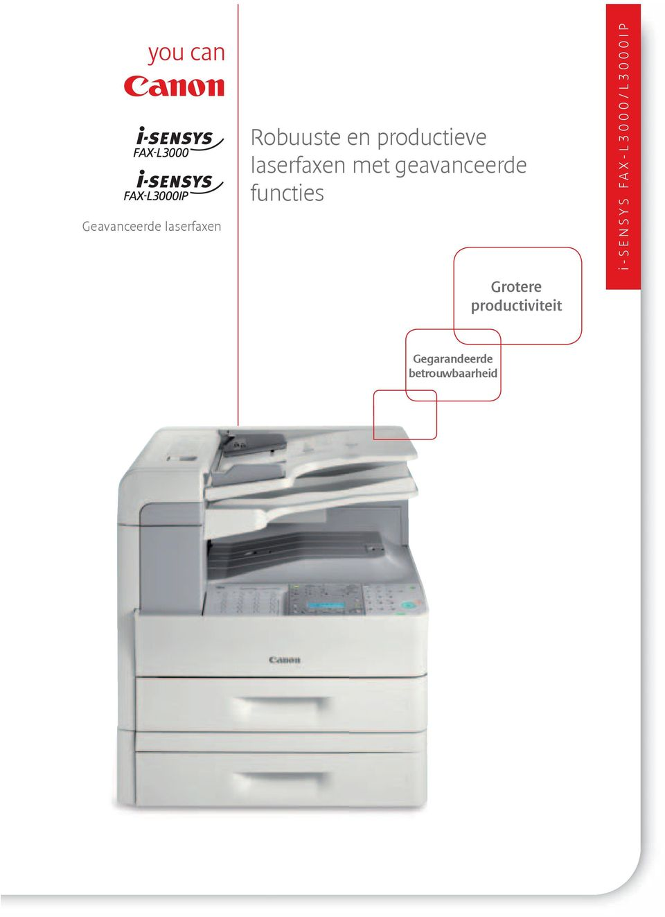 functies i-sensys SCANFRONT FAX-L3000/L3000IP