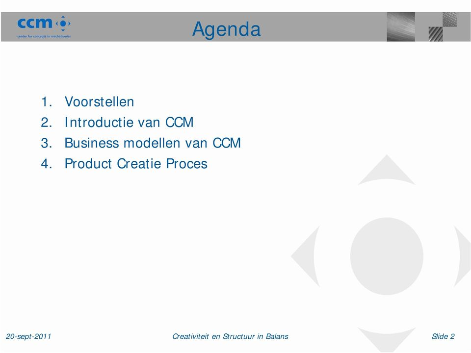 Business modellen van CCM