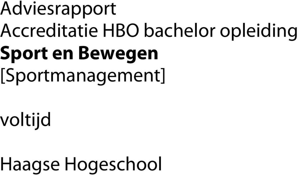 Bewegen SprotmanagementS