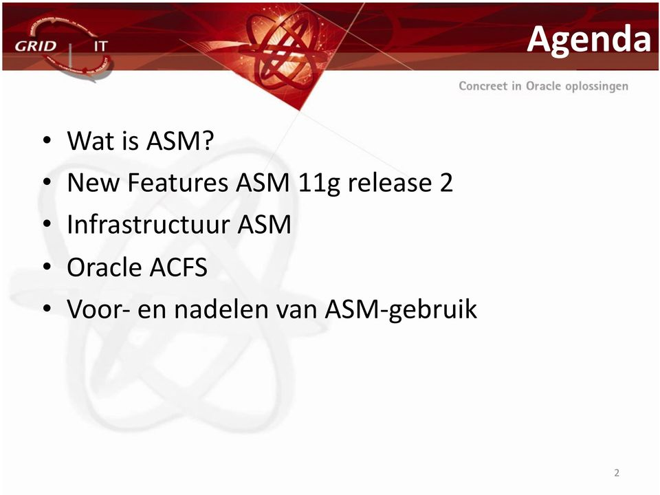 2 Infrastructuur ASM Oracle