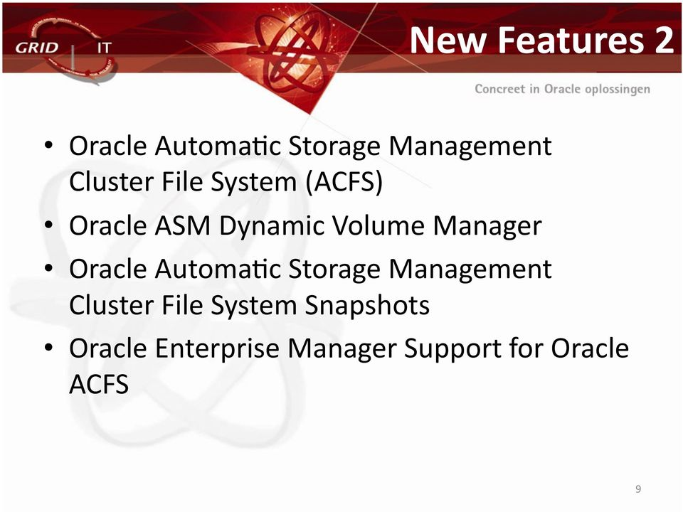 Manager Oracle AutomaOc Storage Management Cluster File