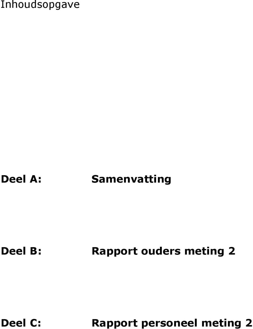 Rapport ouders meting 2