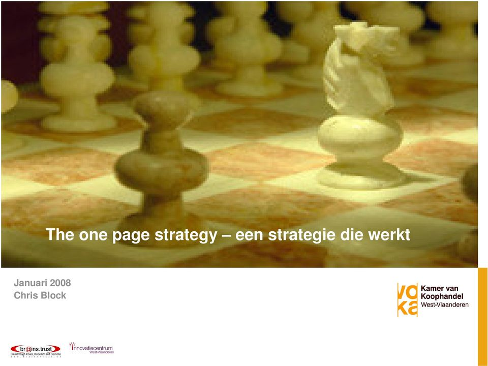 one page strategy