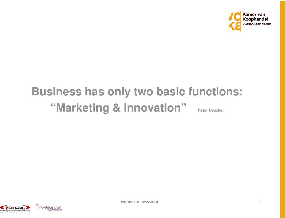 Marketing & Innovation