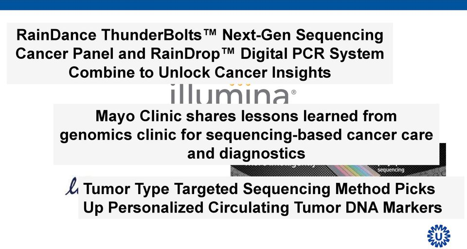 learned from genomics clinic for sequencing-based cancer care and diagnostics