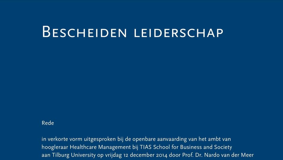 bij TIAS School for Business and Society aan Tilburg University op