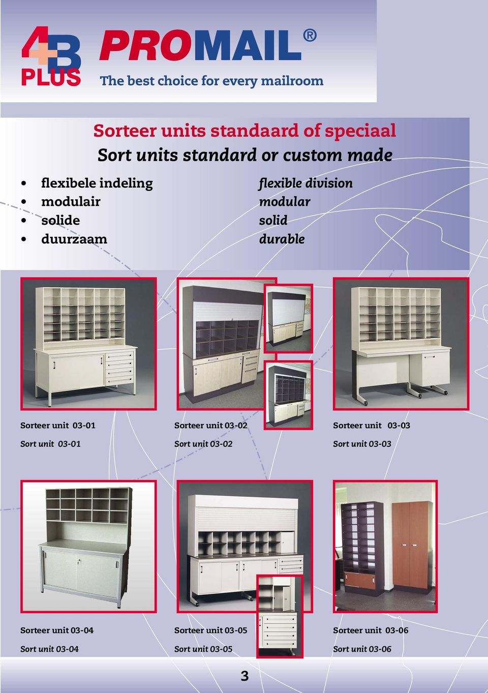 unit 03-02 Sorteer unit 03-03 Sort unit 03-01 Sort unit 03-02 Sort unit 03-03 Sorteer unit