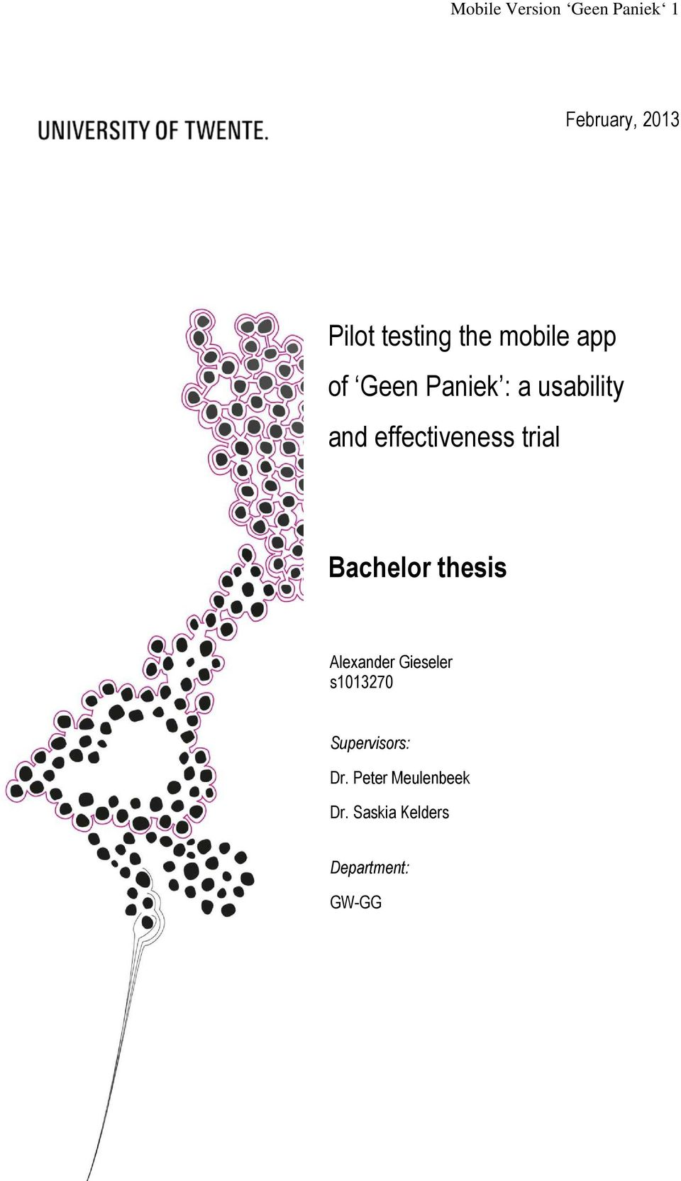 effectiveness trial Bachelor thesis Alexander Gieseler