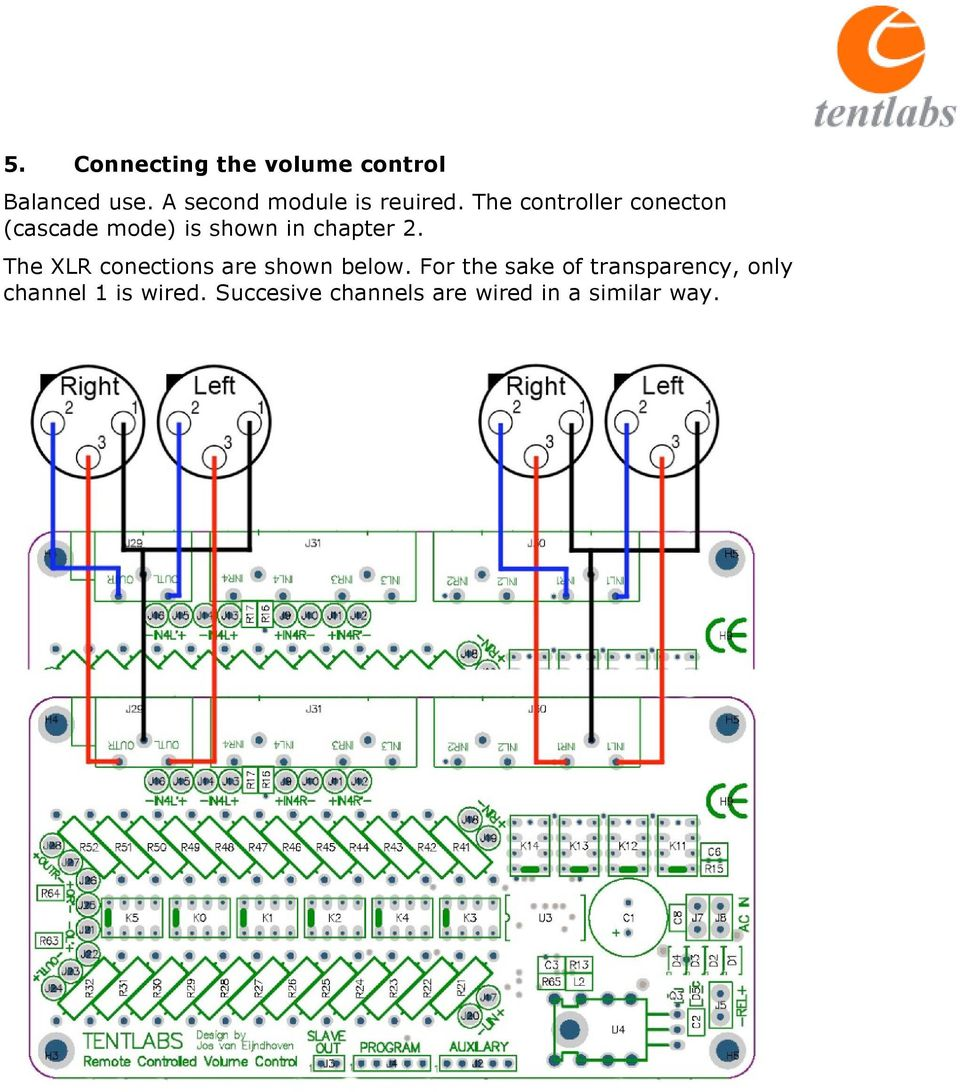 The controller conecton (cascade mode) is shown in chapter 2.