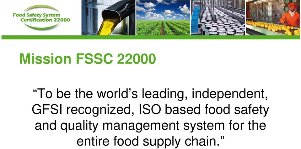 ISO based food safety and quality