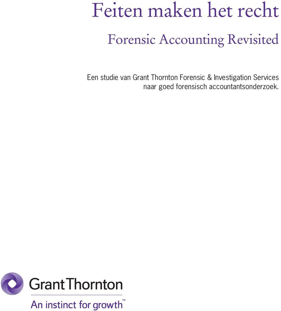 Grant Thornton Forensic & Investigation