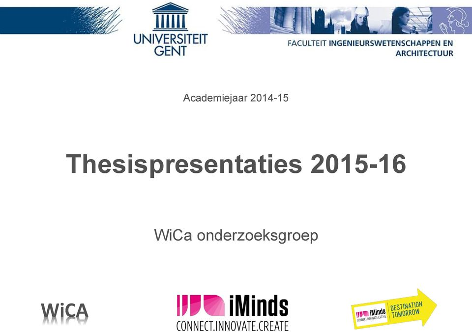 Thesispresentaties