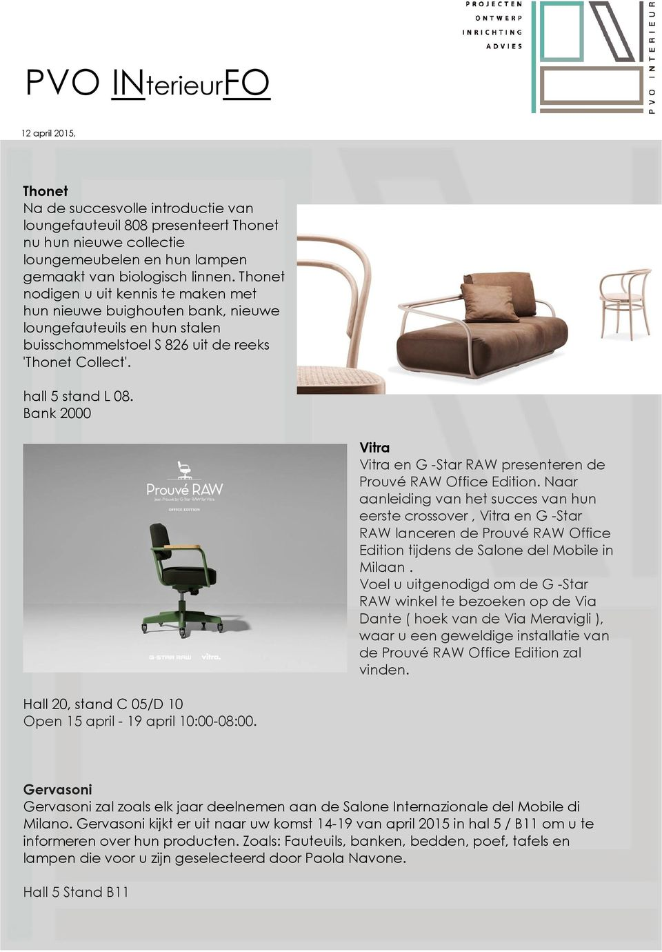 Bank 2000 Vitra Vitra en G -Star RAW presenteren de Prouvé RAW Office Edition.