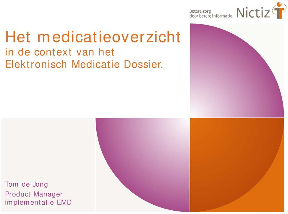 Medicatie Dossier.