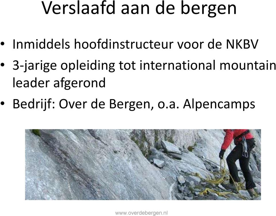 opleiding tot international mountain