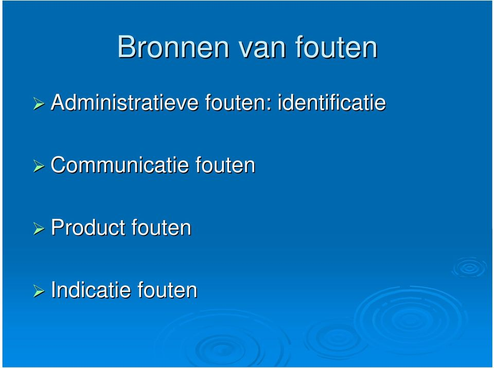 identificatie Communicatie