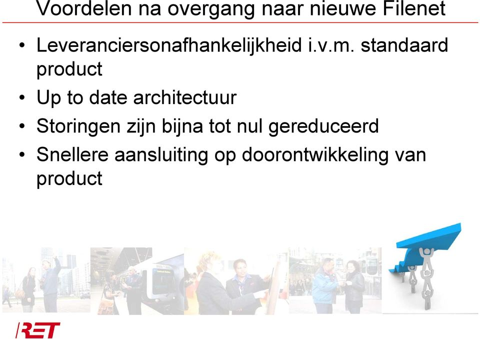 standaard product Up to date architectuur Storingen