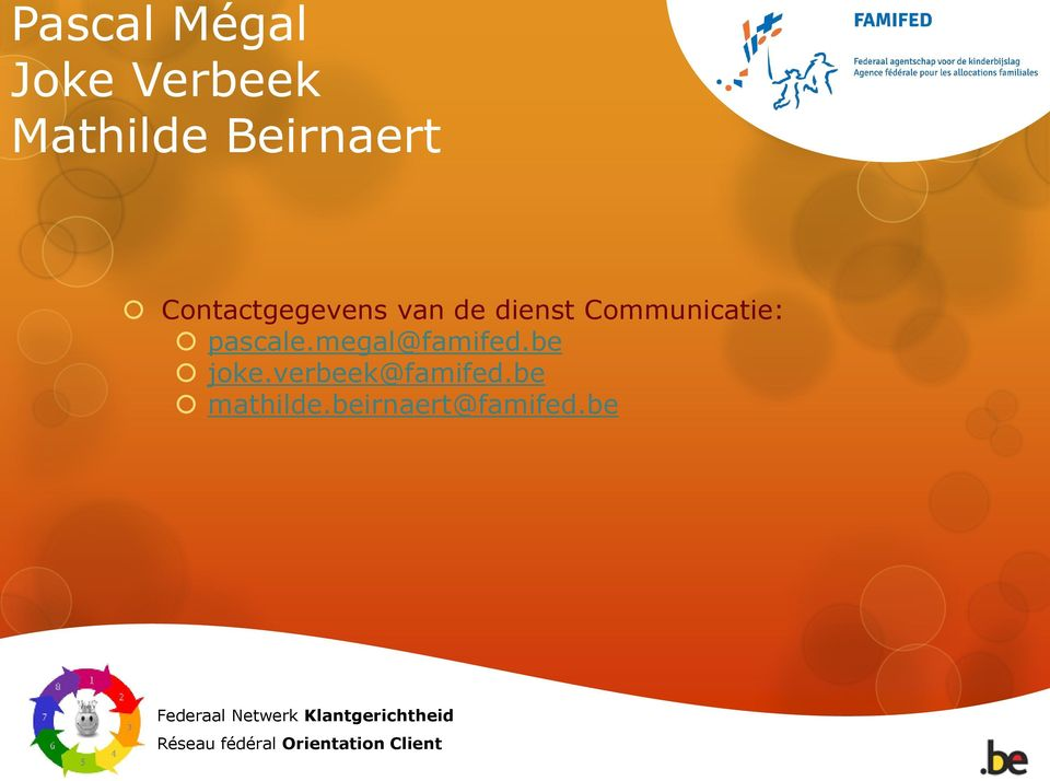 Communicatie: pascale.megal@famifed.