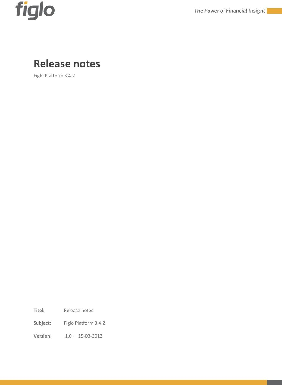 2 Titel: Release notes