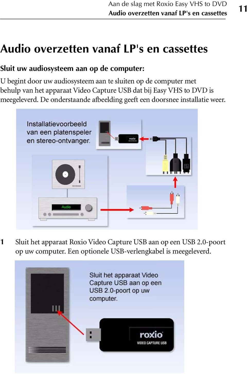 apparaat Video Capture USB dat bij Easy VHS to DVD is meegeleverd.
