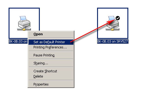 Geef aan of u de printer als default printer wilt gebruiken en klik op Next De Default Printer in Windows is de printer die als eerste wordt gekozen als u de printfunctie in een programma oproept.