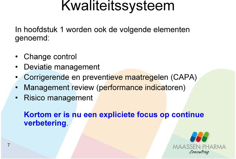 preventieve maatregelen (CAPA) Management review (performance
