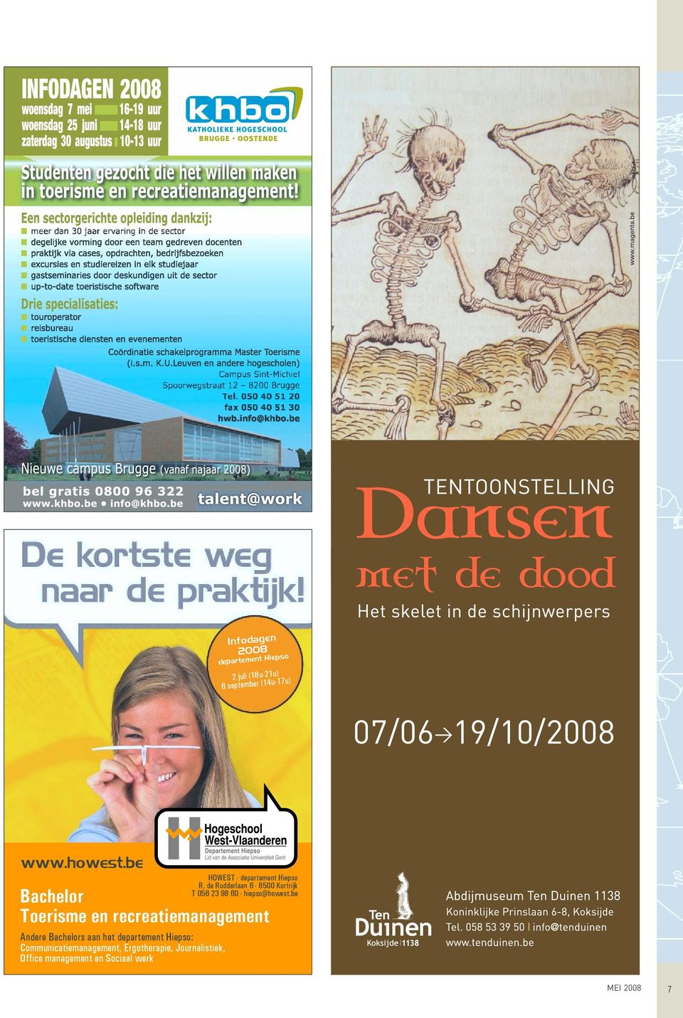 Communicatiemanagement, Ergotherapie, Journalistiek, Office management en Sociaal werk