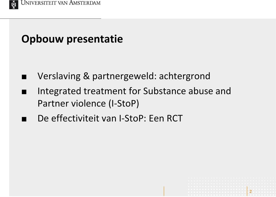 treatment for Substance abuse and Partner