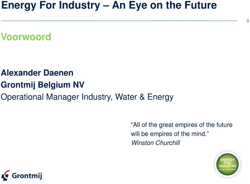 Manager Industry, Water & Energy All of the great