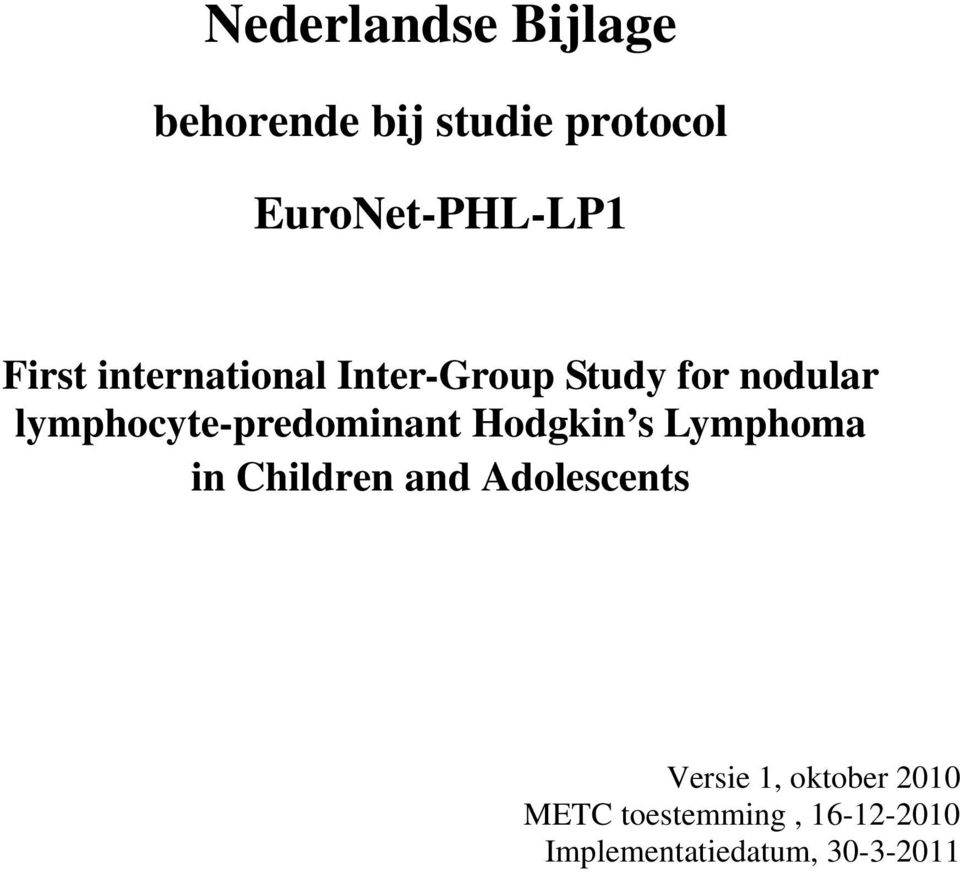 lymphocyte-predominant Hodgkin s Lymphoma in Children and