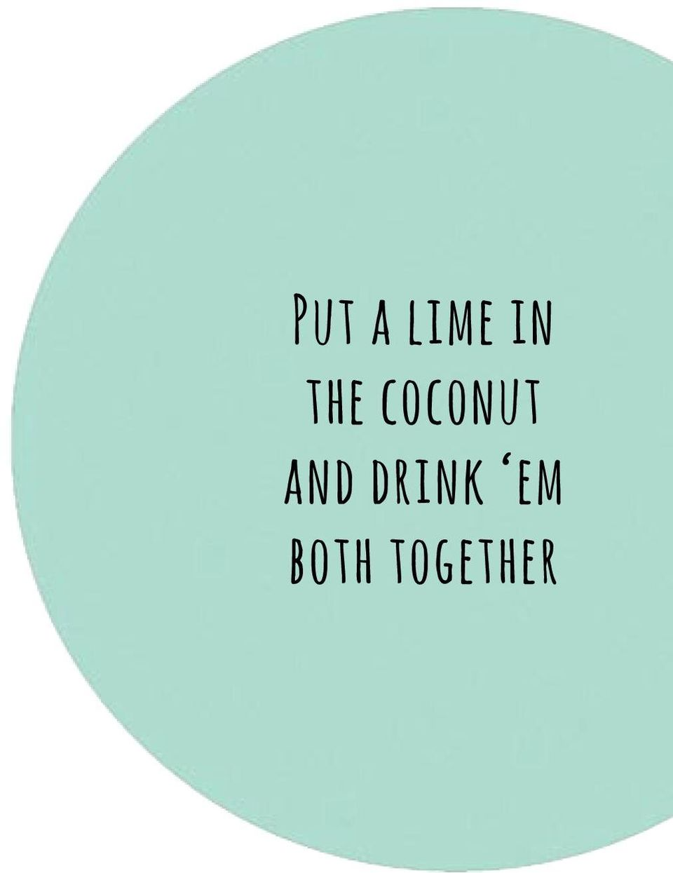 coconut and